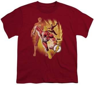 Justice League DC Comics Flash Collage Big Boys T-Shirt Tee