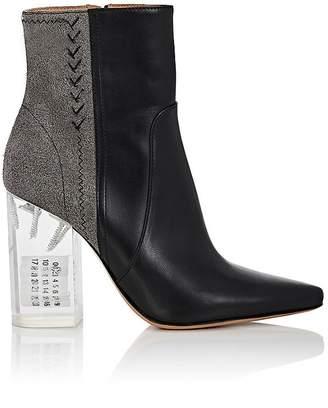 Maison Margiela Women's Acrylic-Heel Leather & Suede Ankle Boots $1,515 thestylecure.com
