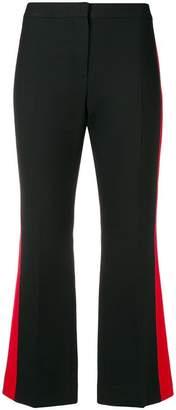 Alexander McQueen side stripe cropped trousers