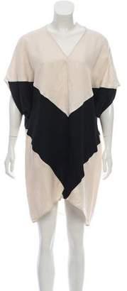 Zero Maria Cornejo Linen Blend Mini Dress