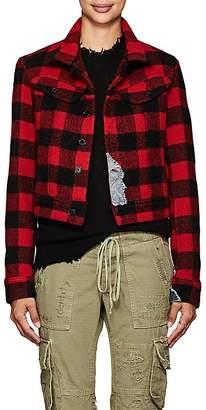 Greg Lauren Women's Checked Wool-Blend Trucker Jacket
