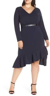 LOST INK Dip Hem Body-Con Dress