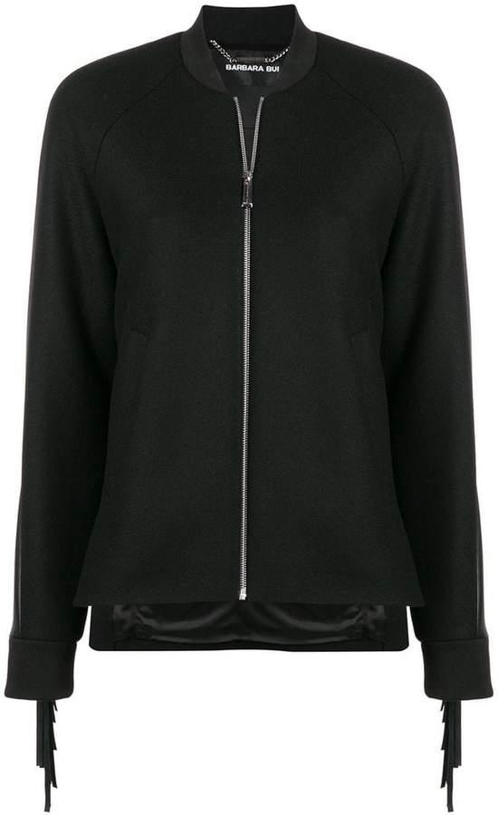 fringe embellished jacket