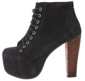 Jeffrey Campbell Lita Suede Platform Ankle Booties