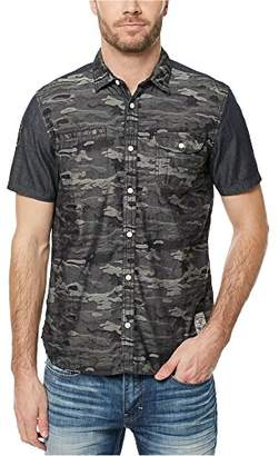 Buffalo David Bitton Men's Sakila Short Sleeve Camo Button Down Shirt