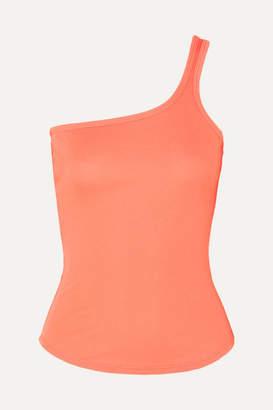 The Line By K - James Asymmetric Jersey Top - Orange