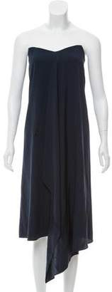Tibi Strapless Silk Dress