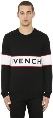 Givenchy Logo Jacquard Wool Knit Sweater