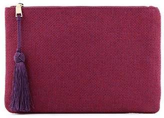 OTTO Leather Otto Designer Women's Bohemian Clutch Purse - Multiple Slots Money, Cards, Smartphone - Ultra Slim