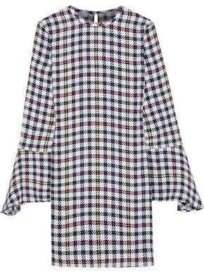 Equipment Mari Checked Washed-silk Mini Dress