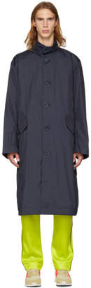 Opening Ceremony Navy Nylon Logo Trench Coat
