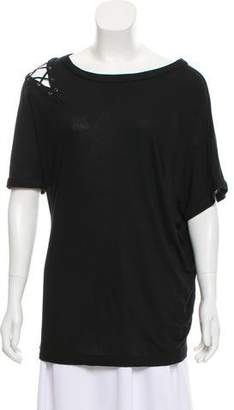 Yigal Azrouel Cut25 by Short Sleeve Scoop Neck Top w/ Tags
