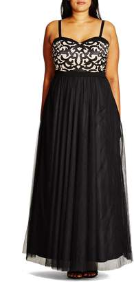 City Chic 'It Girl' Maxi Dress