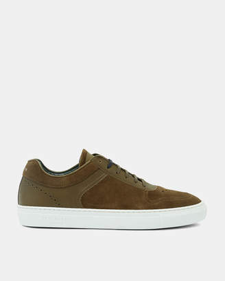 Ted Baker BURALL Suede cupsole trainers