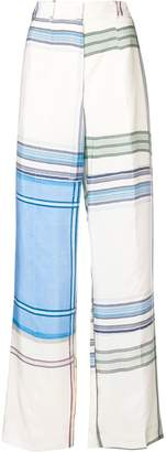 Ports 1961 striped colour-block trousers