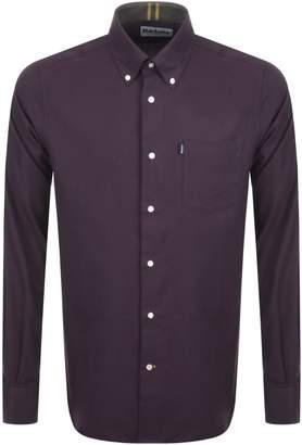 Barbour Stapleton Twill Shirt Burgundy