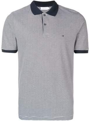 Calvin Klein contrast collar polo shirt
