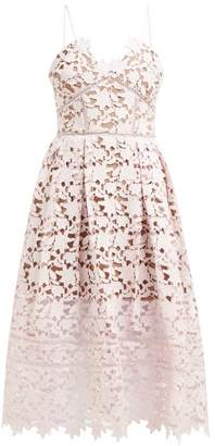 Self-Portrait Self Portrait Azaelea Floral Lace Midi Dress - Womens - Light Pink