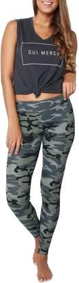Sundry Grey Camo Yoga Pant
