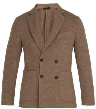 BEIGE Thom Sweeney - Knitted Cashmere And Wool Blend Blazer - Mens