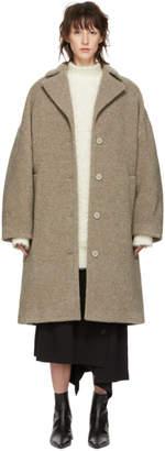 MM6 MAISON MARGIELA Taupe Cocoon Coat