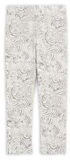 Imoga Little Girl's & Girl's Zebra-Print Leggings