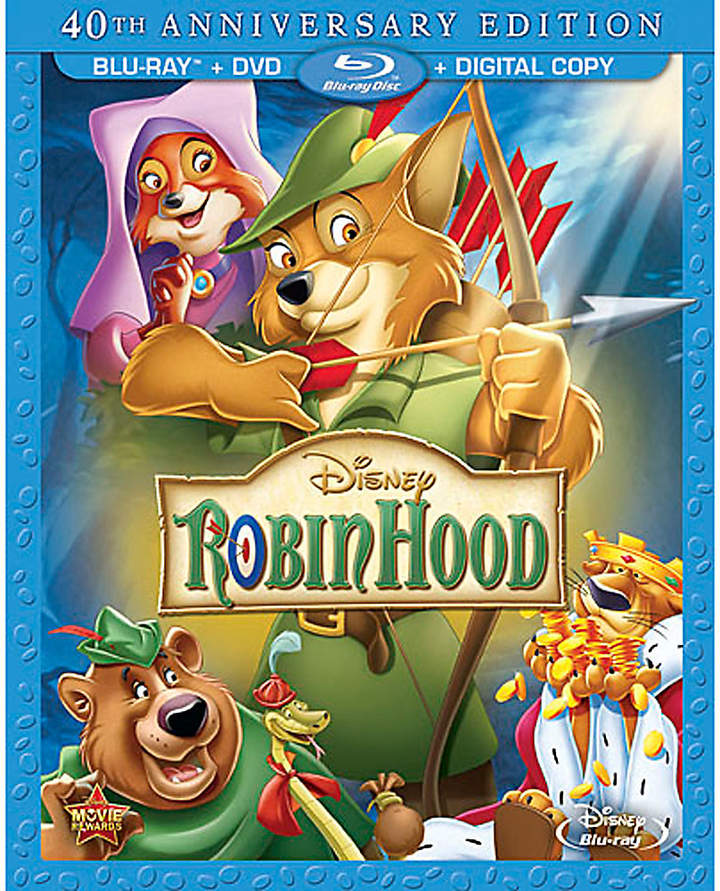Disney Robin Hood Blu-ray and DVD Combo Pack