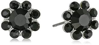 1928 Jewelry Silver-Tone Button Stud Earrings