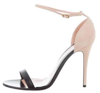 Alexander McQueen Leather Ankle-Strap Sandals