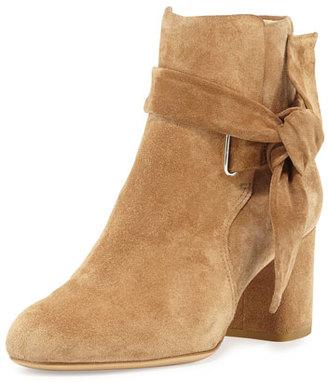 Rag & Bone Dalia Suede Ankle-Tie Bootie, Camel $575 thestylecure.com