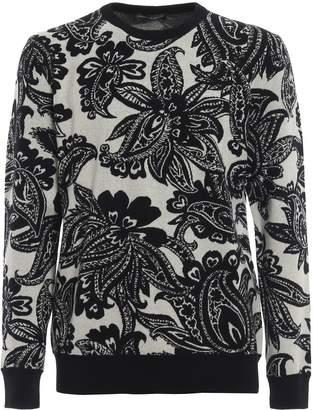 Alexander McQueen Floral Pattern Sweater