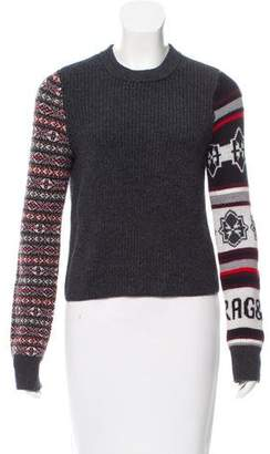 Rag & Bone Wool Knit Long Sleeve Crew Neck Sweater