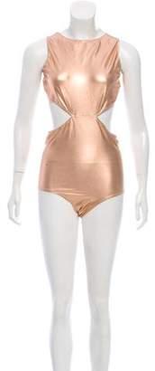 Rick Owens Metallic Cutout Swimsuit