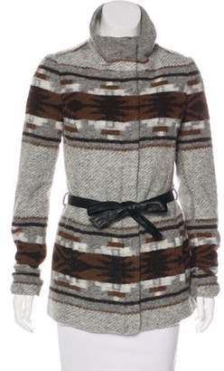 Paige Patterned Wool-Blend Jacket