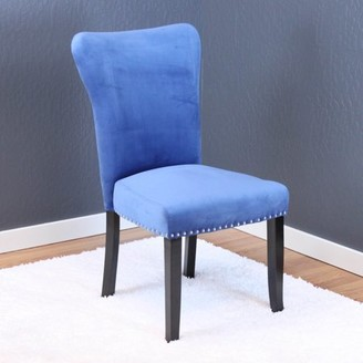 Monsoon Pacific Aalten Sky Blue Velvet Dining Chairs (Set of 2)
