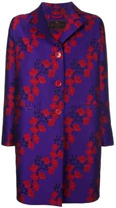 Etro sakura print coat