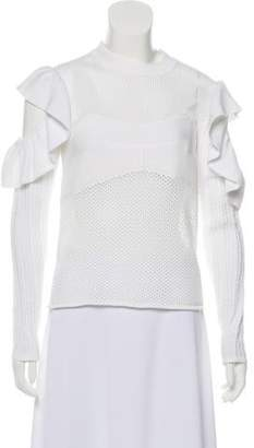 Self-Portrait Frill Cold Shoulder Top w/ Tags