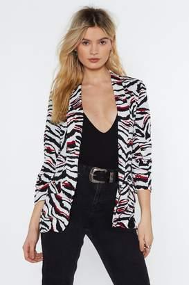 Nasty Gal Up to Zebra Business Blazer