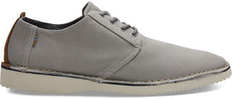 Drizzle Grey Textured Twill Stitch Out Mens Preston Dress Shoes