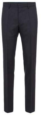 BOSS Hugo Slim-fit pants in patterned virgin wool 30R Open Blue