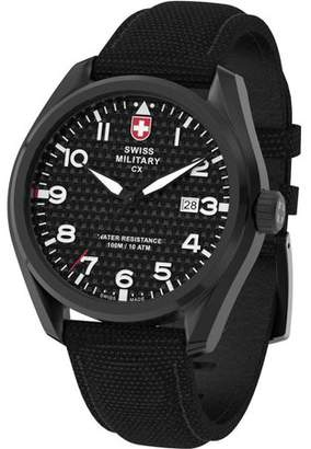 Swiss Military by Charmex By Charmex Men's Pilot Black Tone Fabric Band Watch