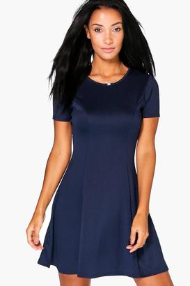 boohoo Maisie Tailored Skater Dress $26 thestylecure.com