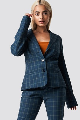 Na Kd Classic Checked Fitted Blazer Blue Check