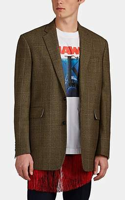 Calvin Klein Men's Overchecked Houndstooth-Weave Wool Sportcoat - Camel