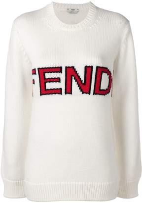 Fendi intarsia logo sweater