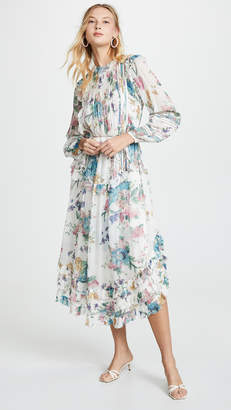 Zimmermann Ninety-Six Linear Midi Dress