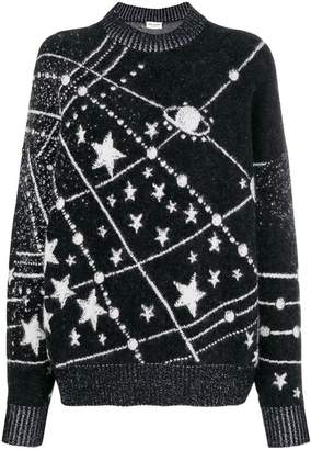 Saint Laurent lurex constellation sweater