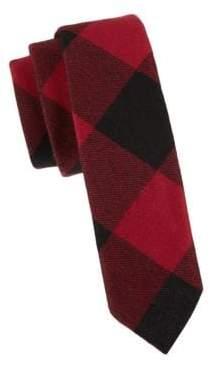 Valentino Slim Gingham Wool Tie