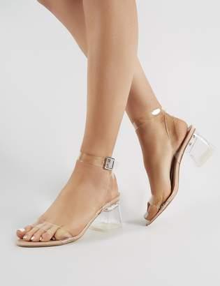 67964129d87 Public Desire Afternoon Perspex Block Heels Patent