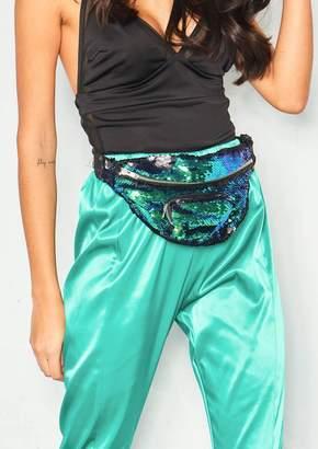 cdeb691ea938 Missy Empire Missyempire Sylvia Emerald Green Sequin Pocket Bum Bag